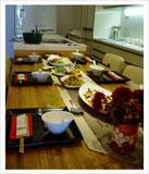 中華風テーブルコーディネート